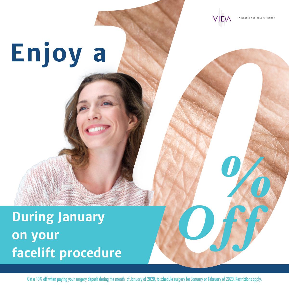 Facelift Procedure Promotion Face Beauty Surgery VIDA COSMED
