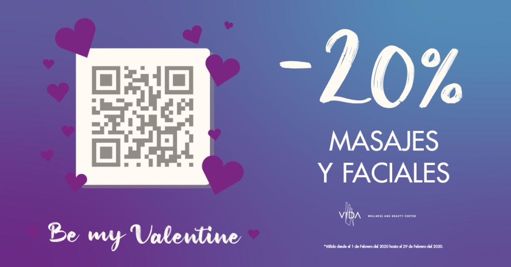Promoción de San Valentin en VIDA clinic